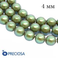 Жемчуг хрустальный Preciosa Maxima 4 мм Pearlescent Khaki 10 штук/упаковка Чехия 064379 - 99 бусин