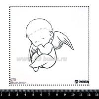 Шаблон для броши Ангелочек, фетр Корея Премиум, толщина 1,25 мм, размер 10*10 см 064386 - 99 бусин