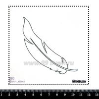 Шаблон для броши Перо, фетр Корея Премиум, толщина 1,25 мм, размер 10*10 см 064391 - 99 бусин
