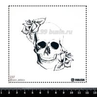 Шаблон для броши Череп, фетр Корея Премиум, толщина 1,25 мм, размер 10*10 см 064392 - 99 бусин