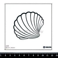 Шаблон для броши Ракушка, фетр Корея Премиум, толщина 1,25 мм, размер 10*10 см 064393 - 99 бусин