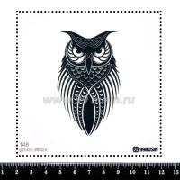 Шаблон для броши Сова, фетр Корея Премиум, толщина 1,25 мм, размер 10*10 см 064398 - 99 бусин