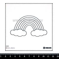 Шаблон для броши Радуга, фетр Корея Премиум, толщина 1,25 мм, размер 10*10 см 064431 - 99 бусин