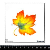 Шаблон для броши Кленовый лист, фетр Корея Премиум, толщина 1,25 мм, размер 10*10 см 064434 - 99 бусин