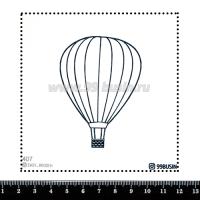 Шаблон для броши Воздушный шар, фетр Корея Премиум, толщина 1,25 мм, размер 10*10 см 064441 - 99 бусин