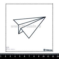 Шаблон для броши Бумажный самолётик, фетр Корея Премиум, толщина 1,25 мм, размер 10*10 см 064442 - 99 бусин