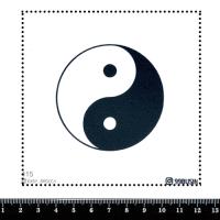 Шаблон для броши Инь-Ян, фетр Корея Премиум, толщина 1,25 мм, размер 10*10 см 064444 - 99 бусин