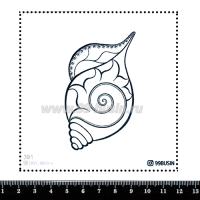 Шаблон для броши Раковина, фетр Корея Премиум, толщина 1,25 мм, размер 10*10 см 064447 - 99 бусин