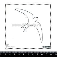 Шаблон для броши Ласточка, фетр Корея Премиум, толщина 1,25 мм, размер 10*10 см 064448 - 99 бусин