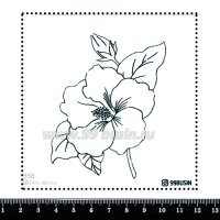 Шаблон для броши Цветок, фетр Корея Премиум, толщина 1,25 мм, размер 10*10 см 064451 - 99 бусин