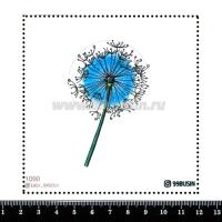 Шаблон для броши Одуванчик 1090, фетр Корея Премиум, толщина 1,25 мм, размер 10*10 см 064460 - 99 бусин