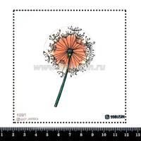 Шаблон для броши Одуванчик 1091, фетр Корея Премиум, толщина 1,25 мм, размер 10*10 см 064461 - 99 бусин