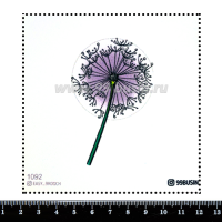 Шаблон для броши Одуванчик 1092, фетр Корея Премиум, толщина 1,25 мм, размер 10*10 см 064462 - 99 бусин
