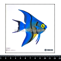 Шаблон для броши Рыба 1093, фетр Корея Премиум, толщина 1,25 мм, размер 10*10 см 064463 - 99 бусин