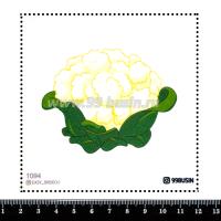 Шаблон для броши Цветная капуста 1094, фетр Корея Премиум, толщина 1,25 мм, размер 10*10 см 064464 - 99 бусин
