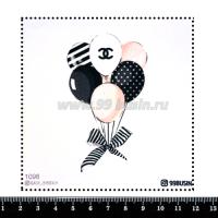 Шаблон для броши Воздушные шары 1098, фетр Корея Премиум, толщина 1,25 мм, размер 10*10 см 064468 - 99 бусин