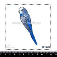 Шаблон для броши Попугайчик 1100, фетр Корея Премиум, толщина 1,25 мм, размер 10*10 см 064470 - 99 бусин