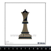 Шаблон для броши Шахматная королева 1106, фетр Корея Премиум, толщина 1,25 мм, размер 10*10 см 064474 - 99 бусин