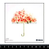 Шаблон для броши Зонт из роз 1104, фетр Корея Премиум, толщина 1,25 мм, размер 10*10 см 064476 - 99 бусин
