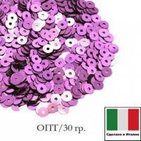 ОПТ Пайетки 3 мм Италия плоские цвет 5031 Lilla Metallizzati ( Лиловый металлик) 30 граммов 064482 - 99 бусин