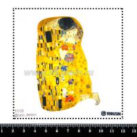 Шаблон для броши Поцелуй 1119, фетр Корея Премиум, толщина 1,25 мм, размер 10*10 см 064502 - 99 бусин