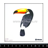 Шаблон для броши Тукан 1135, фетр Корея Премиум, толщина 1,25 мм, размер 10*10 см 064505 - 99 бусин