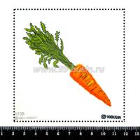 Шаблон для броши Морковь 1139, фетр Корея Премиум, толщина 1,25 мм, размер 10*10 см 064508 - 99 бусин