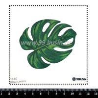 Шаблон для броши Монстера 1140, фетр Корея Премиум, толщина 1,25 мм, размер 10*10 см 064510 - 99 бусин
