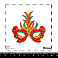 Шаблон для броши Маска 1141, фетр Корея Премиум, толщина 1,25 мм, размер 10*10 см 064511 - 99 бусин
