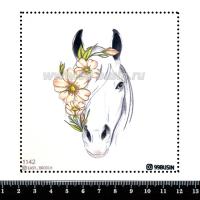 Шаблон для броши Лошадь 1142, фетр Корея Премиум, толщина 1,25 мм, размер 10*10 см 064512 - 99 бусин