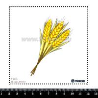 Шаблон для броши Пшеница 1143, фетр Корея Премиум, толщина 1,25 мм, размер 10*10 см 064513 - 99 бусин