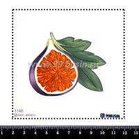 Шаблон для броши Инжир 1146, фетр Корея Премиум, толщина 1,25 мм, размер 10*10 см 064516 - 99 бусин