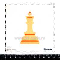 Шаблон для броши Шахматные фигуры 1110, фетр Корея Премиум, толщина 1,25 мм, размер 10*10 см 064518 - 99 бусин