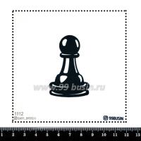 Шаблон для броши Шахматные фигуры 1112, фетр Корея Премиум, толщина 1,25 мм, размер 10*10 см 064520 - 99 бусин