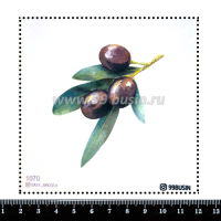 Шаблон для броши Оливковая ветвь 1070, фетр Корея Премиум, толщина 1,25 мм, размер 10*10 см 064540 - 99 бусин