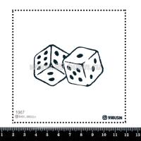 Шаблон для броши Кости 1067, фетр Корея Премиум, толщина 1,25 мм, размер 10*10 см 064541 - 99 бусин