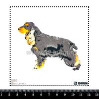 Шаблон для броши Спаниель 1056, фетр Корея Премиум, толщина 1,25 мм, размер 10*10 см 064545 - 99 бусин