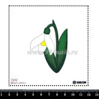 Шаблон для броши Подснежник 1042 фетр Корея Премиум, толщина 1,25 мм, размер 10*10 см 064550 - 99 бусин