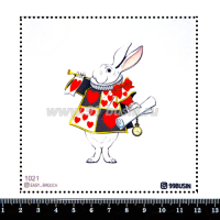 Шаблон для броши Белый кролик 1021 фетр Корея Премиум, толщина 1,25 мм, размер 10*10 см 064556 - 99 бусин