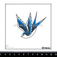 Шаблон для броши Синица 955 фетр Корея Премиум, толщина 1,25 мм, размер 10*10 см 064564 - 99 бусин