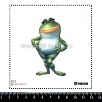 Шаблон для броши Жаба 952 фетр Корея Премиум, толщина 1,25 мм, размер 10*10 см 064565 - 99 бусин