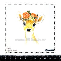 Шаблон для броши Оленёнок 936 фетр Корея Премиум, толщина 1,25 мм, размер 10*10 см 064568 - 99 бусин