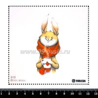 Шаблон для броши Кролик 918 фетр Корея Премиум, толщина 1,25 мм, размер 10*10 см 064570 - 99 бусин