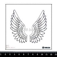 Шаблон для броши Крылья 913 фетр Корея Премиум, толщина 1,25 мм, размер 10*10 см 064571 - 99 бусин