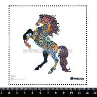 Шаблон для броши Конь 904 фетр Корея Премиум, толщина 1,25 мм, размер 10*10 см 064573 - 99 бусин