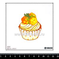 Шаблон для броши Капкейк 859 фетр Корея Премиум, толщина 1,25 мм, размер 10*10 см 064575 - 99 бусин