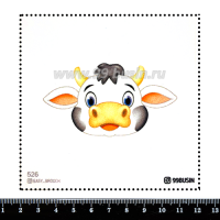 Шаблон для броши Коровка 526 фетр Корея Премиум, толщина 1,25 мм, размер 10*10 см 064578 - 99 бусин