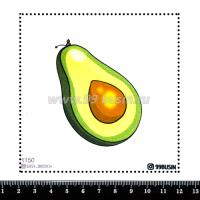 Шаблон для броши Авокадо 1150 фетр Корея Премиум, толщина 1,25 мм, размер 10*10 см 064583 - 99 бусин
