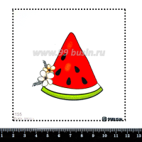 Шаблон для броши Арбуз 1155 фетр Корея Премиум, толщина 1,25 мм, размер 10*10 см 064587 - 99 бусин