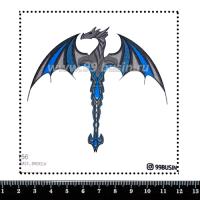 Шаблон для броши Дракон 1156 фетр Корея Премиум, толщина 1,25 мм, размер 10*10 см 064589 - 99 бусин